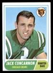 1968 Topps #153  Jack Concannon  Front Thumbnail