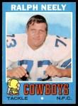 1971 Topps #89  Ralph Neely  Front Thumbnail