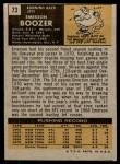 1971 Topps #73  Emerson Boozer  Back Thumbnail