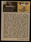 1971 Topps #185  Sam Brunelli  Back Thumbnail