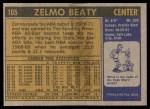1971 Topps #165  Zelmo Beaty  Back Thumbnail