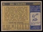 1971 Topps #76  Dale Schlueter   Back Thumbnail