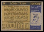 1971 Topps #68  John Trapp   Back Thumbnail