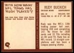1967 Philadelphia #26  Rudy Buckich   Back Thumbnail