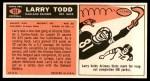 1965 Topps #151  Larry Todd  Back Thumbnail