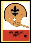 1967 Philadelphia #121   New Orleans Saints Helmet #121 Front Thumbnail