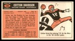 1965 Topps #138  Cotton Davidson  Back Thumbnail
