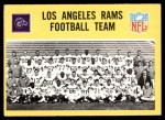 1967 Philadelphia #85   Los Angeles Rams Team Front Thumbnail