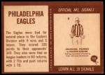 1967 Philadelphia #133   Eagles Team Back Thumbnail
