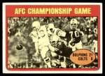 1972 Topps #137  Johnny Unitas / Manny Fernandez AFC Championship Front Thumbnail
