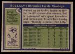1972 Topps #145  Bob Lilly  Back Thumbnail