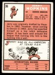 1966 Topps #36  Jerry Hopkins  Back Thumbnail