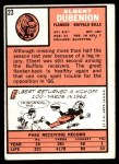 1966 Topps #23  Elbert Dubenion  Back Thumbnail