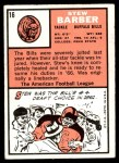 1966 Topps #16  Stew Barber  Back Thumbnail