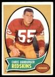 1970 Topps #93  Chris Hanburger  Front Thumbnail