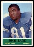 1964 Philadelphia #61  Dick Lane  Front Thumbnail
