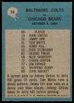 1964 Philadelphia #14   -  Don Shula Colts Play of the Year Back Thumbnail
