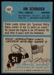 1964 Philadelphia #137  Jim Schrader   Back Thumbnail