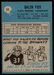 1964 Philadelphia #33  Galen Fiss  Back Thumbnail