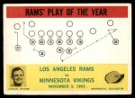 1964 Philadelphia #98   -  Harland Svare   Rams Play of the Year Front Thumbnail