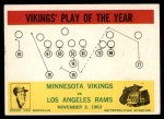 1964 Philadelphia #112   -  Norm Van Brocklin Vikings Play of the Year Front Thumbnail