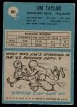 1964 Philadelphia #80  Jim Taylor   Back Thumbnail