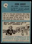 1964 Philadelphia #60  John Gordy   Back Thumbnail