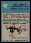 1964 Philadelphia #37  John Morrow  Back Thumbnail