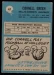 1964 Philadelphia #47  Cornell Green   Back Thumbnail