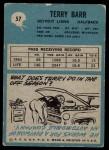 1964 Philadelphia #57  Terry Barr  Back Thumbnail