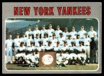 1970 Topps #399   Yankees Team Front Thumbnail