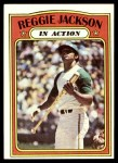 1972 Topps #436   -  Reggie Jackson In Action Front Thumbnail