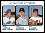 1973 Topps #616   -  Norm Angelini / Steve Blateric / Mike Garman Rookie Pitchers Front Thumbnail