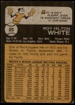 1973 Topps #25  Roy White  Back Thumbnail