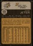 1973 Topps #423  Johnny Jeter  Back Thumbnail