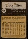 1973 Topps #494  Rich Morales  Back Thumbnail