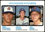 1973 Topps #610   -  Charlie Hough / Jimmy Freeman / Hank Webb Rookie Pitchers Front Thumbnail
