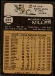 1973 Topps #277  Bob Miller  Back Thumbnail