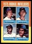 1975 Topps #617   -  Doug DeCinces / Manny Trillo / Mike Cubbage / Reggie Sanders Rookie Infielders   Front Thumbnail