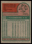 1975 Topps #320  Pete Rose  Back Thumbnail