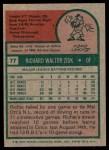 1975 Topps #77  Richie Zisk  Back Thumbnail
