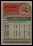 1975 Topps #430  Luis Tiant  Back Thumbnail