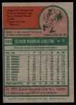 1975 Topps #185  Steve Carlton  Back Thumbnail