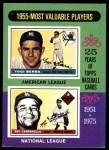 1975 Topps #193   -  Yogi Berra / Roy Campanella 1955 MVPs Front Thumbnail
