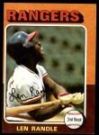 1975 Topps #259  Len Randle  Front Thumbnail