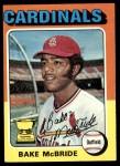 1975 Topps #174  Bake McBride  Front Thumbnail