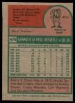 1975 Topps #479  Ken Boswell  Back Thumbnail
