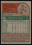 1975 Topps #87  George Foster  Back Thumbnail