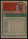 1975 Topps #504  Buddy Bradford  Back Thumbnail