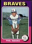 1975 Topps #130  Phil Niekro  Front Thumbnail